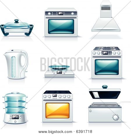 Vector household appliances icons. Part 2