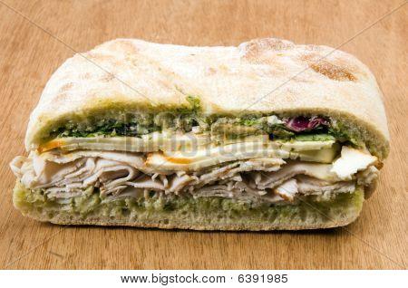 Gourmet Turkey Sandwich With Muenster Cheese