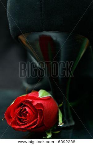 Rose With High Heel Shoe