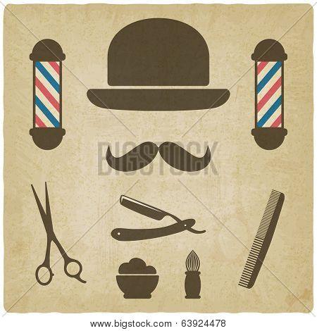 barber old background
