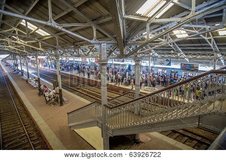 Fort Railway Station In Colombo, Sri Lanka