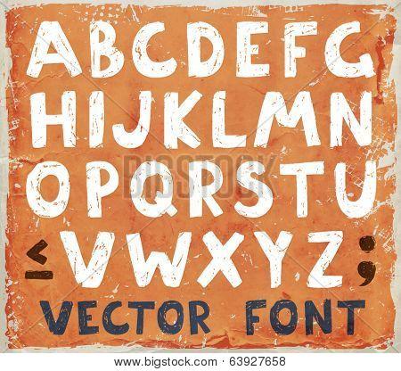 Vintage Grunge Font, Retro Design