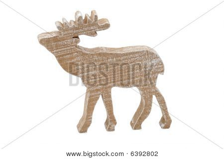 wooden moose