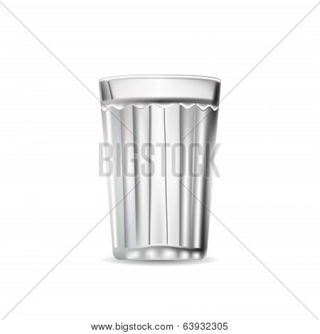 Facet Glass. Tumbler isolated. Vector