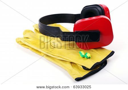 gloves and ear protectors