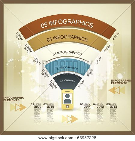 Vector Mobile Network Infographic Elements
