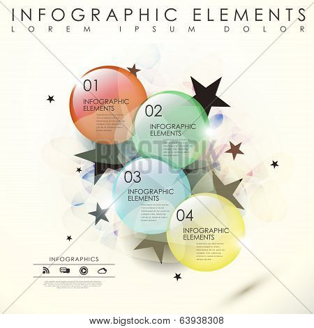 Vector Abstract Translucent Glass Beads Infographic Elements