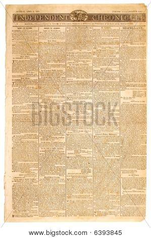 Old American Newspaper
