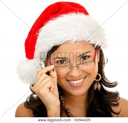 Christmas Woman Isolated