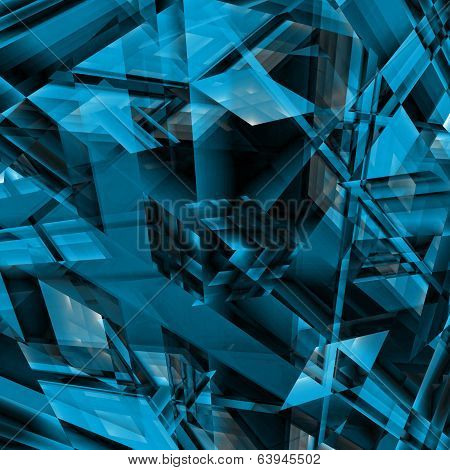 Blue Blocky Abstract