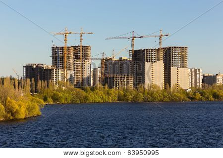 Building Of City Habitation On Big River