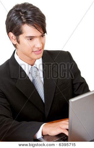 Business Man With Computer