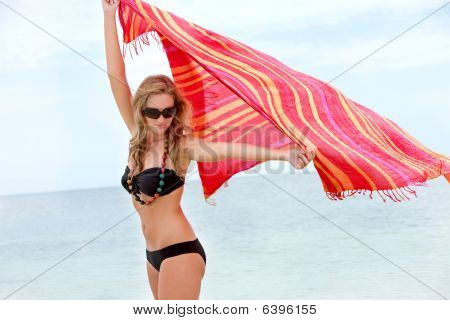 Woman With A Sarong