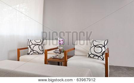 White Sofa Seat