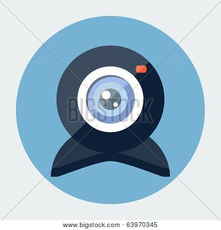 Vector flat webcam icon