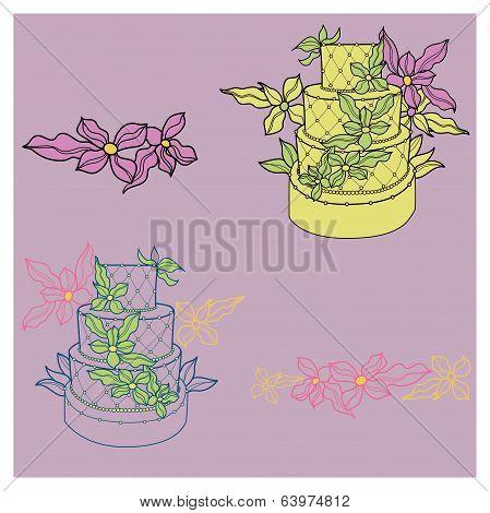Illustration Of Wedding Cakes