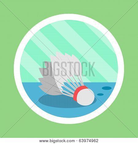 Badminton shuttlecock Flat Design