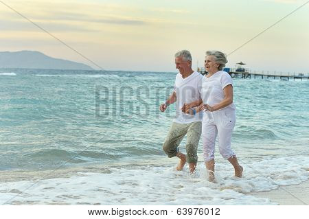 Nice old couple at resort