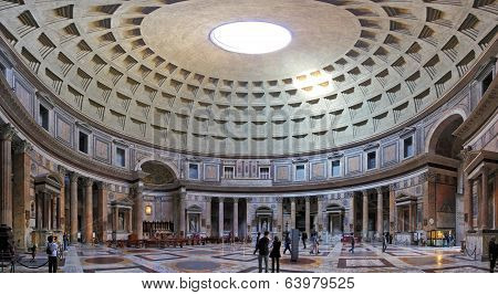 Rome-february 6: The Interior Of The Pantheon On February 6, 2014 In Rome, Italy. The Pantheon Is A