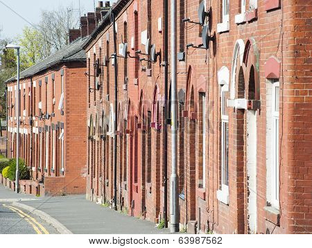 Red bricked houses, Oldham