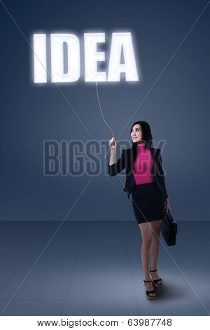 Businesswoman Having A Good Idea
