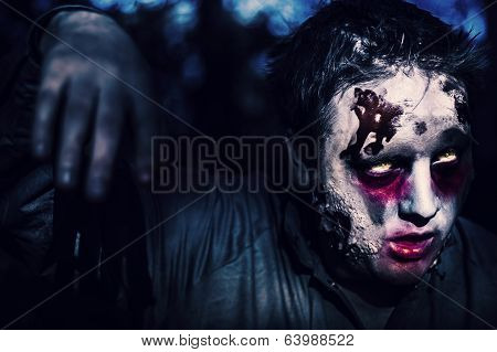 Scary Zombie Looking Gravely Ill. Monster Disease