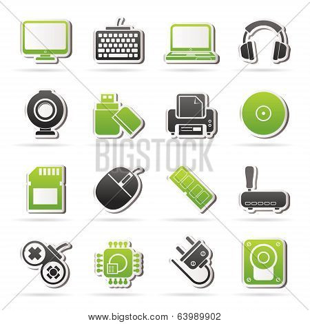 Computer peripherals and accessories icons