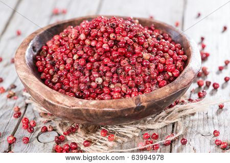 Pink Peppercorns (close-up Shot)