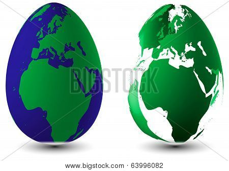 Two Easter Eggs Globuse