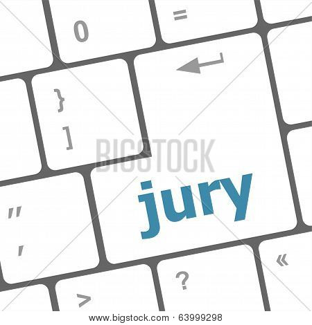Jury Word On Computer Keyboard Pc Key