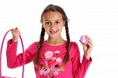 pic of missing teeth  - girl holding Easter basket missing front teeth - JPG