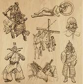 stock photo of mongol  - Warriors - JPG