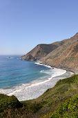 stock photo of bixby  - Beautiful views are around every corner on the Pacific Coastal Highway - JPG