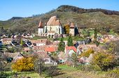 stock photo of evangelism  - Biertan is one of the most important Saxon villages with fortified churches in Transylvania - JPG