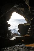 foto of hercules  - View to the Hercules cave in Tanger in Morocco
