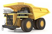 stock photo of dumper  - Dumper industrial isolated at the white background - JPG