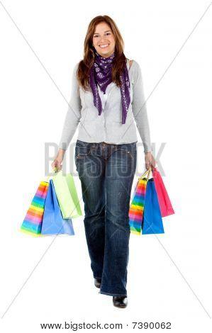 Shopping Woman Walking