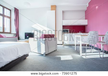 Interior Of Small Modern Apartment