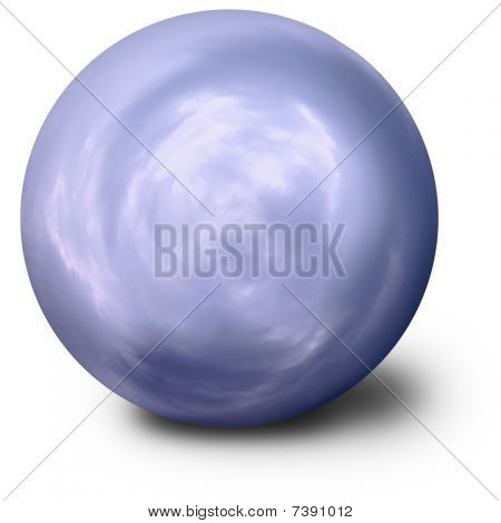 Spiritualistic Blue Ball On White Background