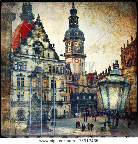 old Dresden - vintage cards series