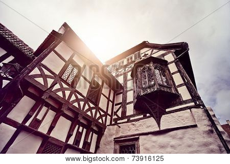 historic half timbered house in Eisenach, Germany