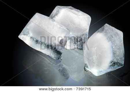 Ice Cubes On Dark