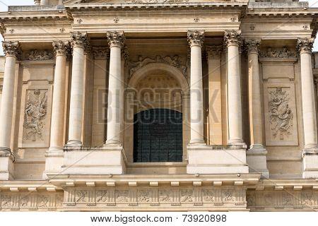 Entrance of Dome des Invalides burial site of Napoleon Bonaparte Paris France