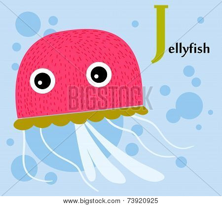 Animal alphabet for the kids: J for the Jellyfish