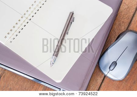 Simple Stationary On Table At Workplace