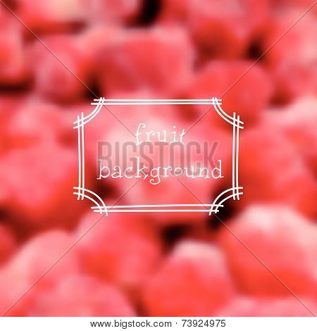 Vector Strawberry Background
