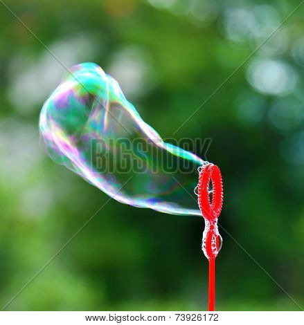 Soap bubble blowing