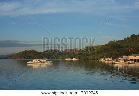 Boat In Tropical Bay
