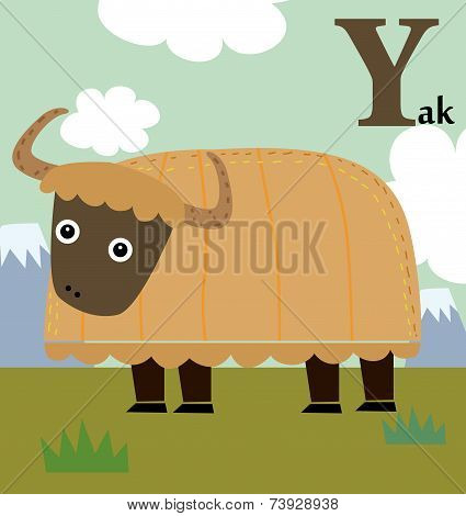 Animal alphabet for the kids:  Y for the Yak