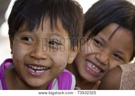 Asiatic Children Smiling
